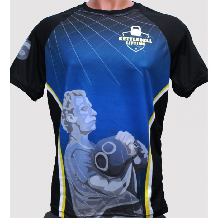 sublimation t-shirt, kettlebell lifring