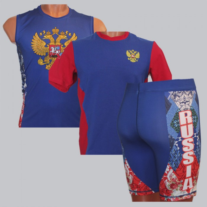 Russian national competition suit for kettlebell lifting (girevoy sport)